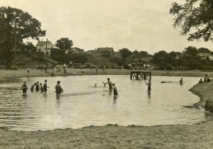 Blackridge, the old swimming hole in Wauwatosa, before the construction of Hoyt Park pool nearby.