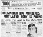 The discovery of Buddy's body was announced on the front page of the Sept. 14 Milwaukee Sentinel.