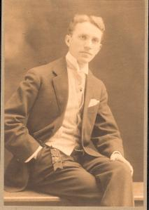 Art Schumacher, Buddy's father, in 1910.