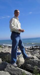 At Bradford Beach, Milwaukee, on the shores of Lake Michigan.