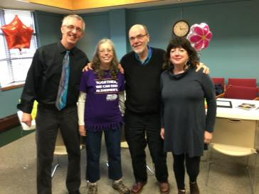 From left: Journalist/authors Paul J. Hoffman, Catherine Breitenbucher, Jim Higgins and Kathy Flanigan. We all worked or are currently working for the Milwaukee Journal Sentinel or the papers it was melded together from, the Journal and Sentinel.