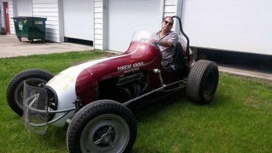 Rob in a roadster